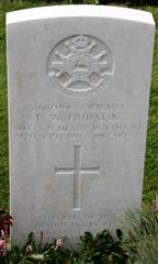 Photograph showing the commonwealth wargraves commission headstone marking the grave of Frank William Hudson at Tyne Cot Cemetery, Belgium. Plot 12. Row C. Grave 20. is courtesy of the Sherwood Foresters Regiment roll of honour website.