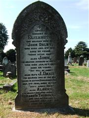 Rifleman J Dalby remembered on a family grave. Photo by Tracy Dodds.