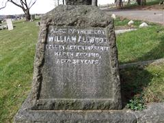 Family stone commemorating William & his parents. Photo taken by Tracy Dodds