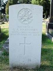 The grave of Corporal Hartshorn of the Notts and Derby Regiment. Photo by Tracy Dodds