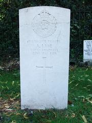 The grave of Pioneer Lane, of the Royal Engineers. Photo by Tracy Dodds