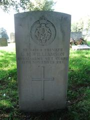 The grave of Private Williamson of the Royal Army Vet Corps. Photo by Tracy Dodds