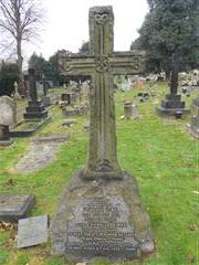 The Kirk family headstone commemorating Francis Henry Kirk at Arnold Redhill Cemetery.