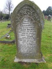 Redhill Cemetery, Arnold, Nottingham. Dalby family grave and headstone commemorating James Dalby. Photograph Peter Gillings