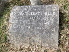 Commemorating JG Bell who fell at Gallipoli. Photo by Tracy Dodds