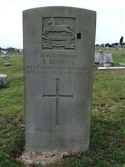 The grave of Private Elliott of the West Yorkshire Regiment. Photo by Tracy Dodds
