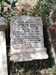 Stone commemorating A WATSON on a family grave. Photo by Tracy Dodds