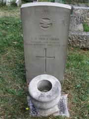 The grave of Cadet Wiltshire of the Royal Air Force who died in 1918. Photo by Tracy Dodds