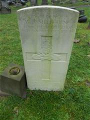Commonwealth War Graves Commission headstone marking the grave of William James Melbourne at Redhill, Arnold Cemetery.