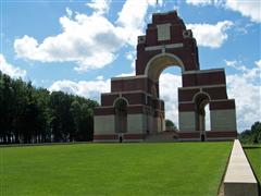 Photograph of the Thiepval memorial,The Somme upon which George Morris Coe's name is commemorated.