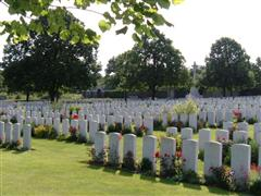 Photo showing Loos British  Cemetery where Harold Gladwin is buried in grave reference IV B 1 ,courtesy of the CWGC