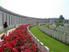 Photo of Tyne Cot memorial, Belgium upon which Harry Revill's name is commemorated, courtesy of the CWGC