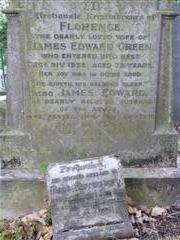 Additional commemorative stone with Green family grave, Holy Trinity churchyard, Lenton. Photograph Rachel Farrand
