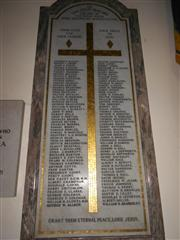 St Mary Magdalene Roll of Honour A-L