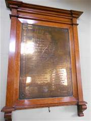 Photo showing the war memorial to the fallen of 'The Great War ' inside Grove Street Methodist Church, Retford.