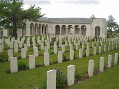 photo shows the Le Touret memorial, France upon which John William Hodson's name is commemorated, photo courtesy of the CWGC