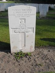 Royal Field Artillery - Coxyde Military Cemetery