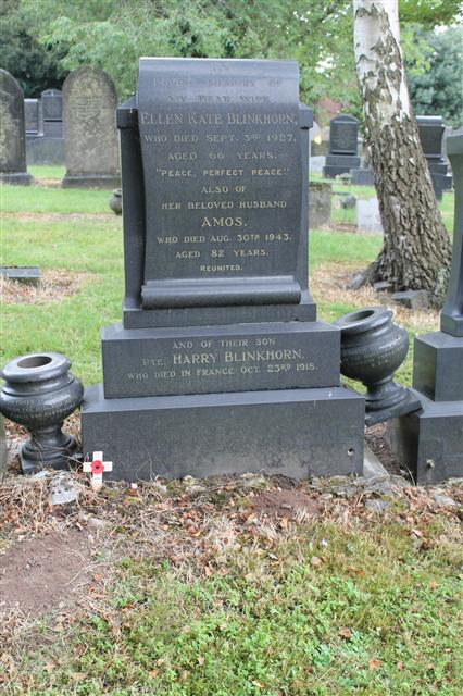 Remembered on his parent's headstone in Nottingham Road Cemetery, Mansfield.