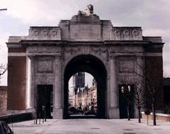 Photo shows The Menin Gate memorial , Ypres, Belgium upon which Edgar Handley Tebbutt's name is commemorated, photo courtesy of CWGC