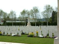 Photo shows Vailly British cemetery France where Charles Henry Clark is buried, photo courtesy of CWGC