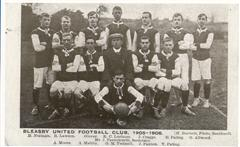Photos shows the players of the Bleasby United Football Club 1905-1906, photo courtesy of Ken Ogilvie