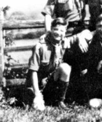 Photograph shows George Rose when a Boy Scout.  Photograph courtesy of Cliff Housley.