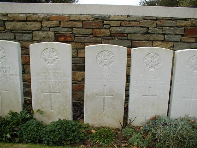 82816, Private Arthur Clarke, killed in action 4/11/1918, buried Sebourg Cemetery, France, grave A.13. His grave has been visited on a number of occasions by Steve Morse, from whom the photo is courtesy of