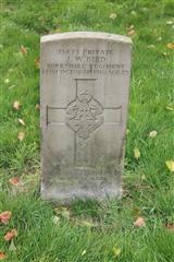 CWGC headstone in Kingsway (Old) Cemetery, Kirkby in Ashfield. Photo Carol Malone