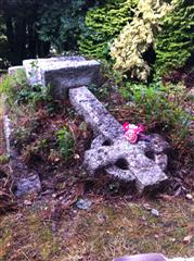 WWI grave/headstone for Reverend Bejamin O'Rorke located in Falmouth. Photos courtesy of Charlotte Morgan