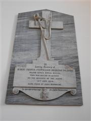 Memorial plaque commemorating Hubert Francis Fitzwilliam Brabazon Foljambe in St John's Church, Scofton.