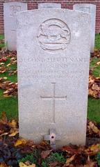 Hind's grave in FlatIron Copse Cemetery near High Wood on the Somme.