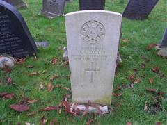 Commonwealth war grave headstone marking the grave of Alfred Goddard Elliott at the Rock Cemetery Nottingham 