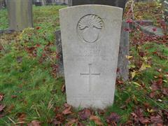 Commonwealth War Graves Commission headstone marking the grave of James Oswald Reed at the Rock Cemetery, Nottingham. 