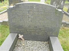 Family grave and headstone commemorating Harry Barratt, All Saints churchyard, Annesley. Photograph courtesy of Peter Gillings