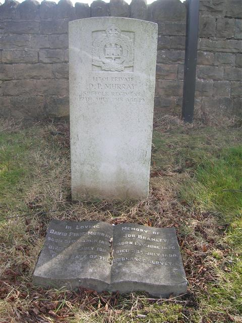 Commonwealth War Graves Commission headstone at Hucknall Cemetery. Photo courtesy of Peter Gillings