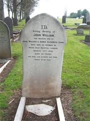The grave of John William Gunn at the Stapleford Cemetery 