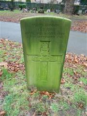 Commonwealth war grave headstone marking the grave of C Law at Nottingham Northern Cemetery 