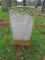 Commonwealth War Graves Commission headstone at  Nottingham Northern Cemetery 