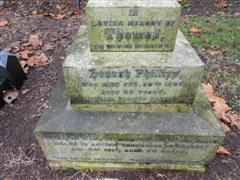 Photo shows the family grave of the Phillips family commemorating Harold Phillips at Nottingham Northern Cemetery