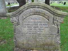 The Fearn family grave commemorating William Fearn at Nottingham Northern Cemetery.