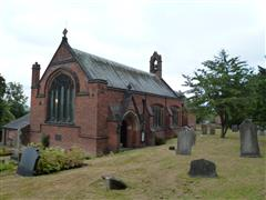 St Peter's church, Awsworth.  The parish memorial is in the churchyard. Photograph Rachel Farrand