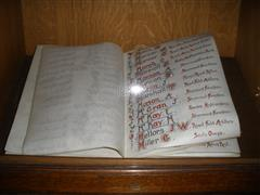 Book of Remembrance (example page). Photograph Rachel Farrand