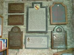 Otter family memorials in Clayworth St Peter's. RJC Otter's memorial in bottom left hand corner. Photograph Rachel Farrand