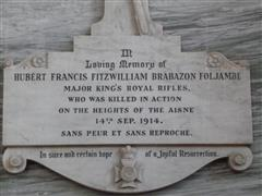Inscription on memorial, Scofton St John church. Photograph Rachel Farrand (July 2012)