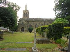 Photo shows St Peter's Church Ruddington where the two memorials are located. 
