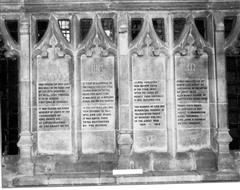 It was intended that the names of all the war dead should be carved in stone but only the clergy and church officials had this privilege
