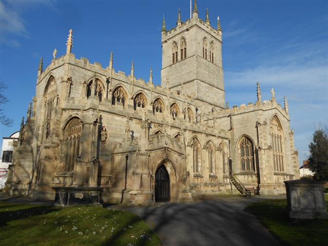 Photo shows St Swithuns Church,Retford 
