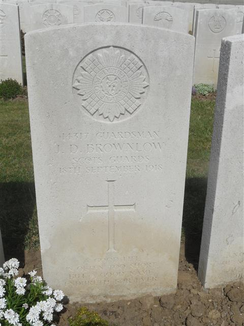 Buried in Terlincthun British Cemetery. Photo by Murray Biddle