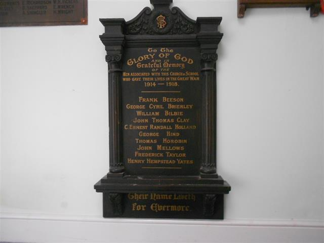 This memorial was removed to the Derby Road Methodist Church.