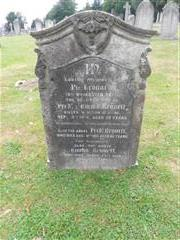 The family headstone of the Bennett family commemorating Leonard Bennett  at  Arnold (Redhill) Cemetery. 